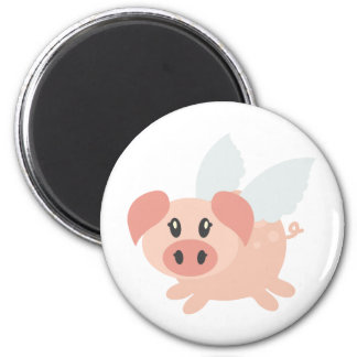 Pigs Might Fly 2 Inch Round Magnet
