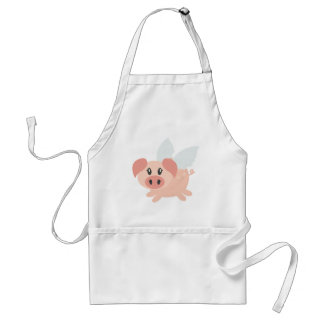 Pigs Might Fly Adult Apron