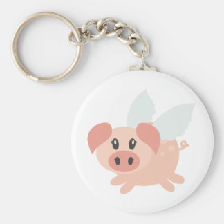 Pigs Might Fly Basic Round Button Keychain