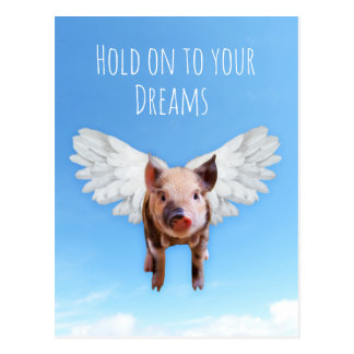 Pigs Might Fly Postcard