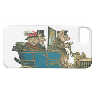 Pigs Night Out - Cute Vintage iPhone5 Case iPhone 5 Cover