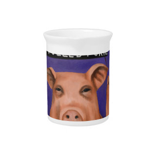 Pigs On Strike Drink Pitcher