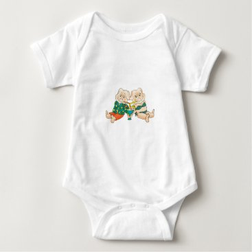 Beach Themed Pigs Paradise Baby Bodysuit