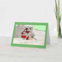 Pigs Pass People Porting Presents Holiday Card