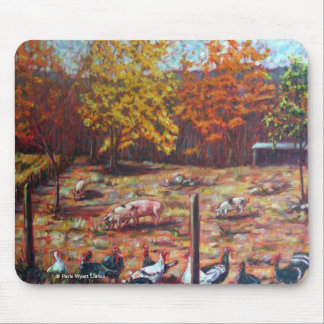 Pigs & Roosters Mouse Pad