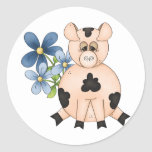 Pigs Round Stickers