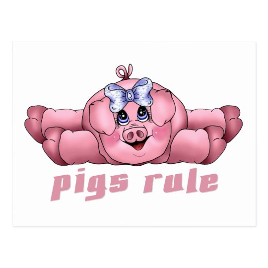 Pigs Rule Postcard