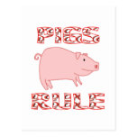 PIGS RULE POSTCARDS