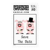 Pigs Save The Date Wedding Postage