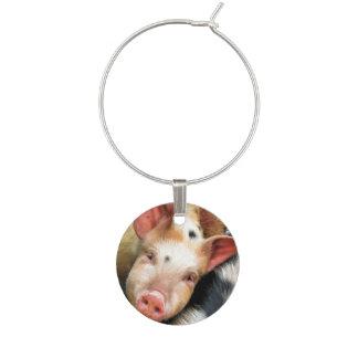 PIGS WINE GLASS CHARM