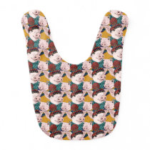 Pigs With Hats Pattern Baby Bib