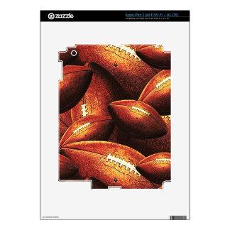 Pigskins Galore All Over Football Design iPad 3 Skins