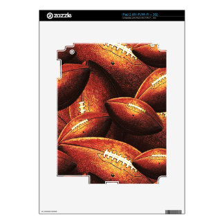 Pigskins Galore All Over Football Design Decal For The iPad 2