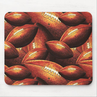 Pigskins Galore All Over Football Design Mousepads