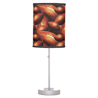 Pigskins Galore All Over Football Design Table Lamp