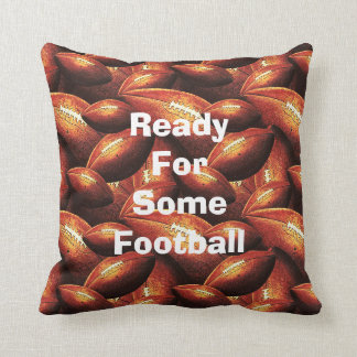Pigskins Galore All Over Football Design Throw Pillow