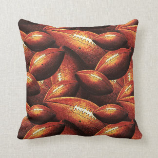 Pigskins Galore - All Over Football Design Throw Pillow