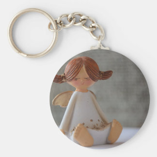 Pigtailed Angel Keychain