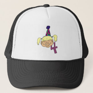Pigtailed Girl Birthday Gifts Trucker Hat