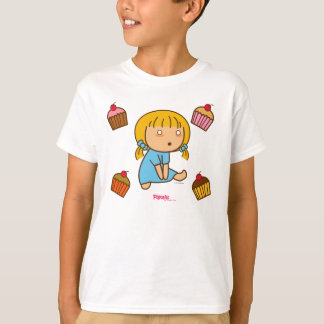 Pigtails Craving for cupcakes T-Shirt