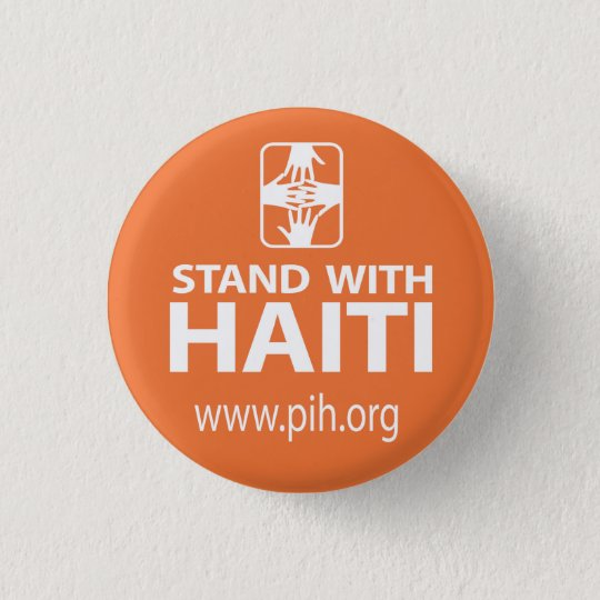 PIH Stand With Haiti Button