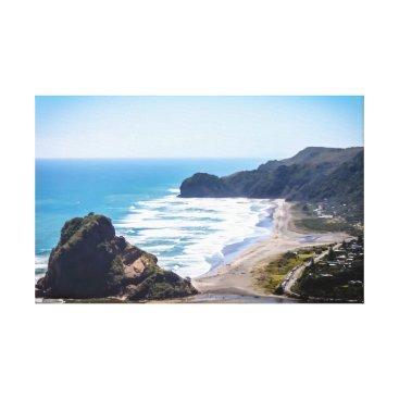 Beach Themed Piha Beach, New Zealand Canvas Print