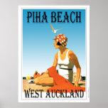 Piha Beach West Auckland Beach Poster