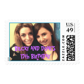 piiiccc, BECKY AND DONI'S 17th BIRTHDAY Postage
