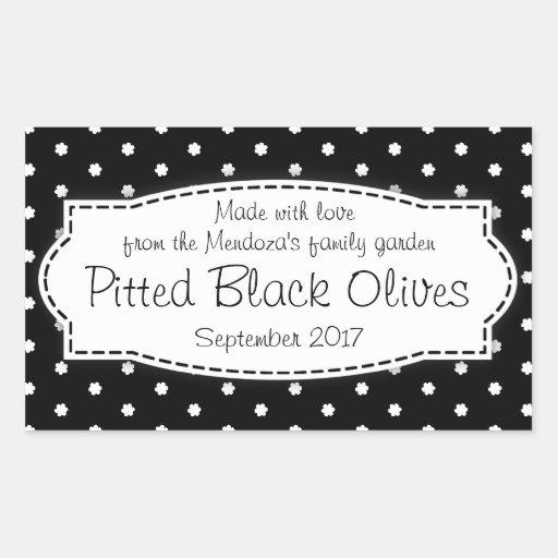 Piited Black Olives food label sticker
