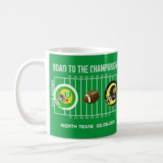 Piitsburgh Green Bay Road to Football Champs Mug