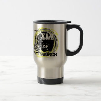 Piitsburgh XLV Football Champs Travel Mug