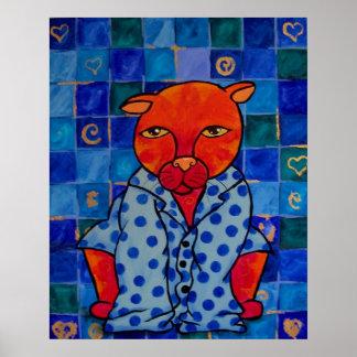 Pijamas de los gatos póster