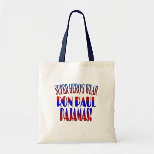 Pijamas de Ron Paul del desgaste del superhéroe Bolsa Tela Barata