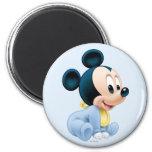 Pijamas del azul de Mickey el | del bebé Imán Redondo 5 Cm