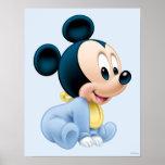 Pijamas del azul de Mickey el | del bebé Póster