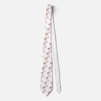 Pijamas lindos del perrito corbata personalizada