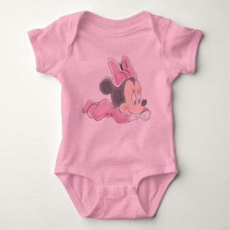 Pijamas rosados de Minnie Mouse el | del bebé Body Para Bebé