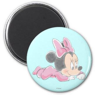 Pijamas rosados de Minnie Mouse el | del bebé Imán Redondo 5 Cm
