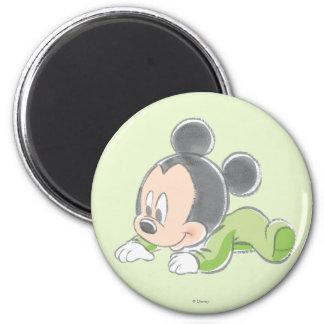 Pijamas verdes de Mickey el | del bebé Imán Redondo 5 Cm