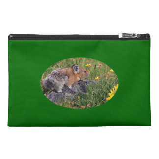 pika and flowers travel accessory bag