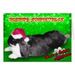 Pika Christmas Santa Hat - Rabbit Bunny Card