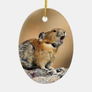 Pika Howling Ceramic Ornament