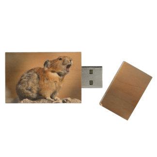 Pika Wood USB Flash Drive