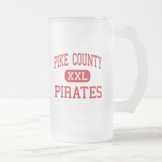 Pike County - Pirates - Middle - Zebulon Georgia 16 Oz Frosted Glass Beer Mug
