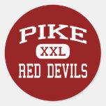 Pike - diablos rojos - alto - Indianapolis Indiana Etiqueta