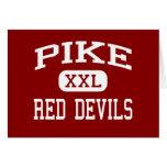Pike - diablos rojos - alto - Indianapolis Indiana Felicitaciones