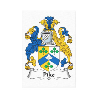 Pike Family Crest Canvas Print
