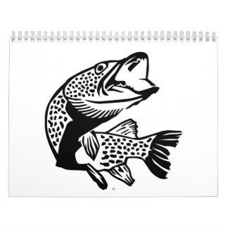 Pike fish calendar