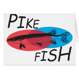 Pike fish. card