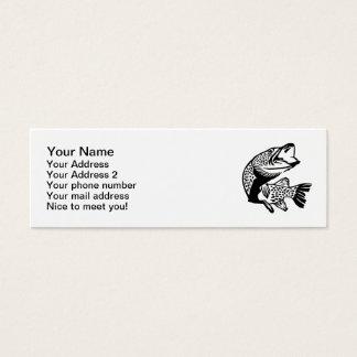 Pike fish mini business card